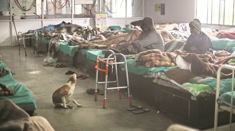 As temperature drops in Delhi, a look at the night shelters for differently abled, drug addicts
