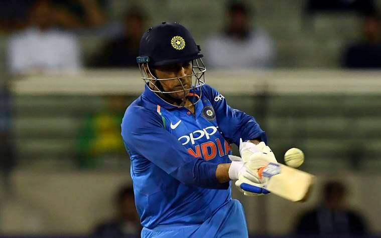 India's M.S. Dhoni bats during their one day international cricket match against Australia in Melbourne, Australia
