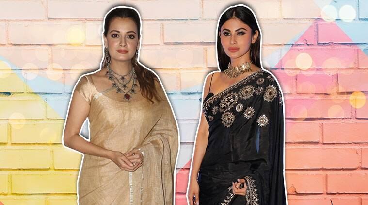 Learn how to style ethnic outfits from Dia Mirza and Mouni
