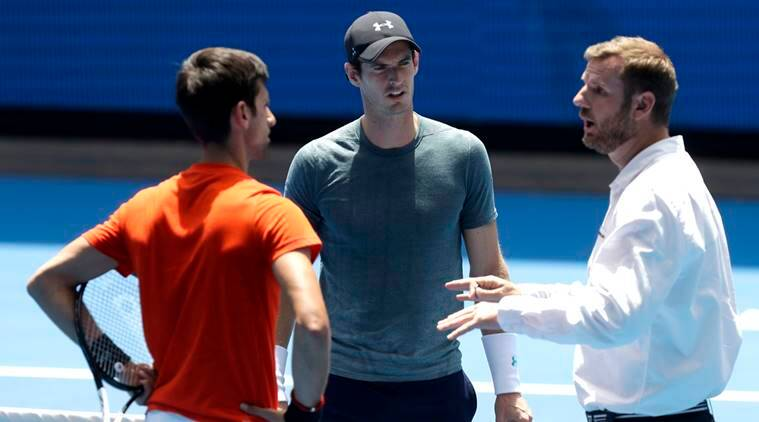 Australian Open 2019 Novak Djokovic Mauls Andy Murray In Packed Practice Match Sports News The Indian Express
