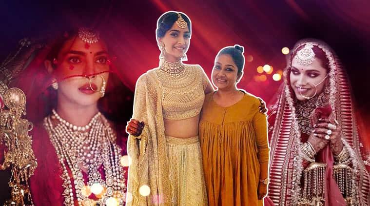 Dolly Jain, Deepika Padukone, Priyanka Chopra, Isha Ambani, Nita Ambani, Sonam Kapoor, Sridevi, sari draping, ways of draping sari, isha ambani wedding, priyanka chopra wedding, sonam kapoor wedding, deepika padukone wedding, celebrity weddings, dolly jain sari draping, celeb fashion, bollywood fashion, indian express, indian express news