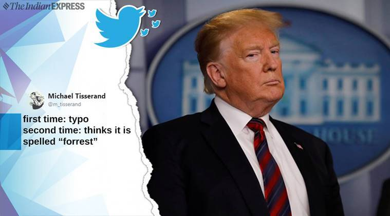 Donald Trump, Donald Trump typos, Donald Trump tweet, Trump administration, US president, US president tweet, viral memes, twitter reactions, indian express, indian express news
