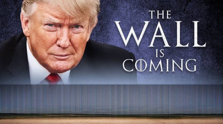 Image result for Trump the wall is coming