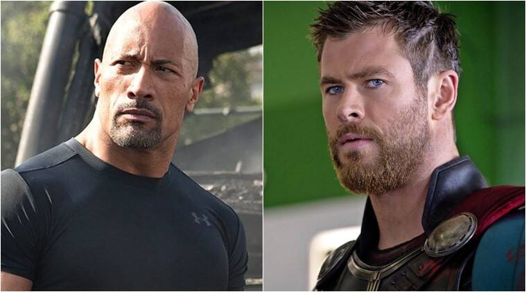 dwayne johnson wants a fast and furious and marvel chris hemsworth thor crossover movie