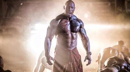 dwayne johnson hobbs and shaw look
