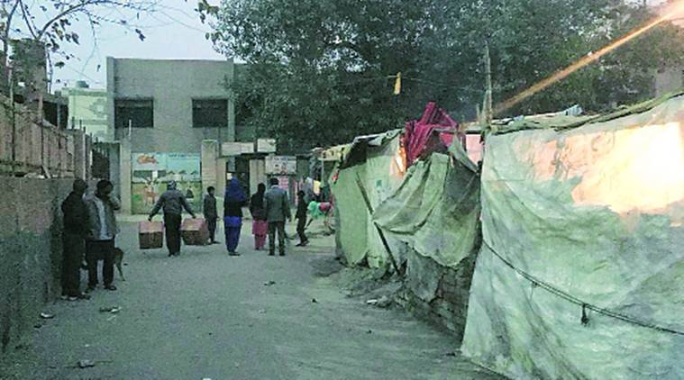 mcd school, encroachment, students drop out in mcd school, encroachment in front of mcd school, drop out due to encroachment, indian express