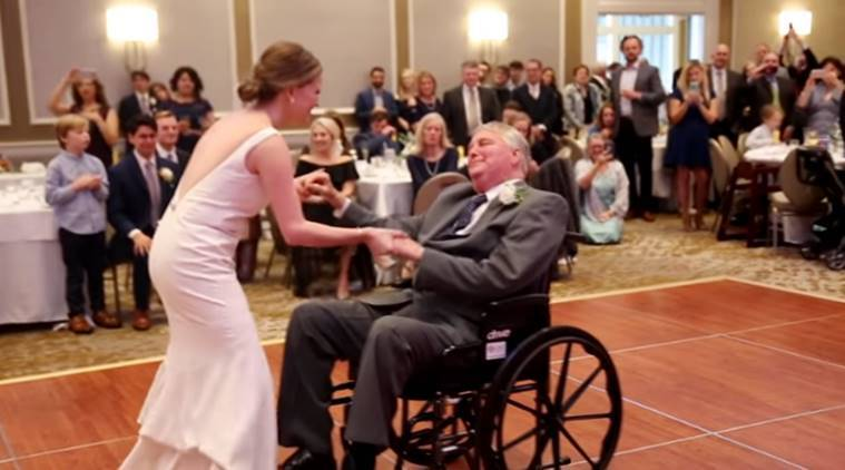 father daughter dance, Terminally Ill Father daughter Wedding dance, wedding dance, father daughter wedding dance, viral video,