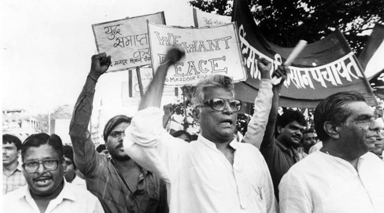 George Fernandes (88) passed away today morning after being bedridden for the past few years. (Express archive photo)