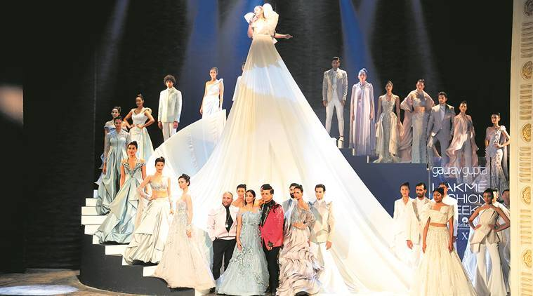 Lakme Fashion Week Summer Resort 2019 Designer Gaurav Gupta Gave A Theatrical Opening Lifestyle News The Indian Express