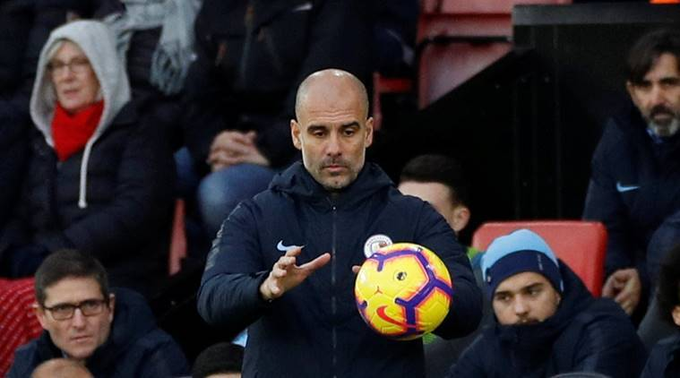 Manchester City manager Pep Guardiola during the match against Southampton