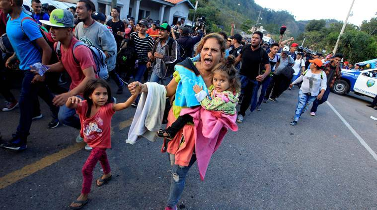 Part of new US-bound migrant caravan crosses into Guatemala