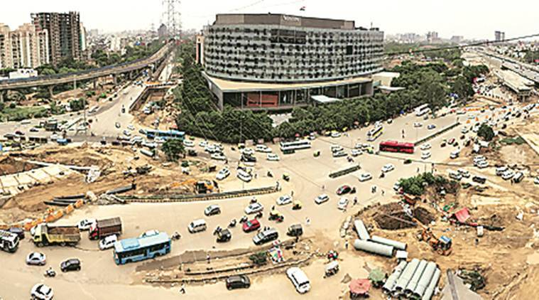 iffco chowk, iffco chowk gurgaon, Iffco chowk underpass, iffco chowk petro pump, underpass iffco chowk, indian express, latest news