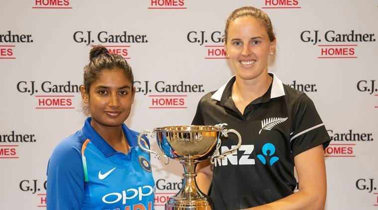 New Zealand and India captains, White ferns captain Amy Satterthwaite, India Women's captain Mithali Raj ahead of limited overs series