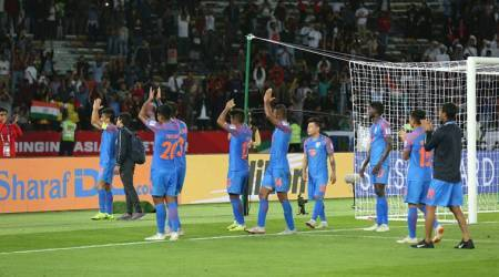 Indian football team after the loss to UAE in the AFC Asian Cup 2019