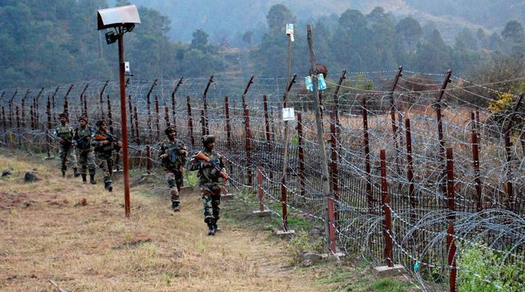 jammu and kashmir, firing, arms firing, mortar shelling, ceasefire violation, indian army, pakistani troops, line of control, indian express news