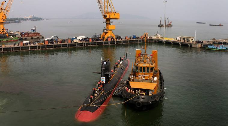 India navy, Indian submarines, indigenous submarines, Indian Navy, Defence Acquisition council, Nirmala Sitharaman, Indian Navy submarines, Indian express, latest news