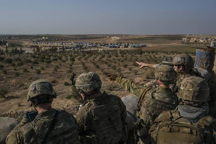 US Special Forces troops near Manbij, Syria