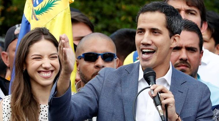 Under pressure over video Venezuela's Guaido says met officials