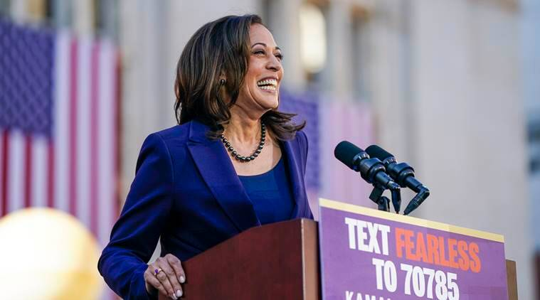 US President elections, US elections 2020, Kamala Harris support, Kamala Harris senate, Kamala HArris campaign, World news, Indian express