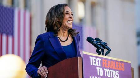 Kamala Harris, Kamala Harris nomination, Indian-American Kamala harris, Kamala Harris relatives, kamala indian Mother, Joe Biden, Democrats, US election 2020, Donald Trump, Kamala Harris India, Indian Express