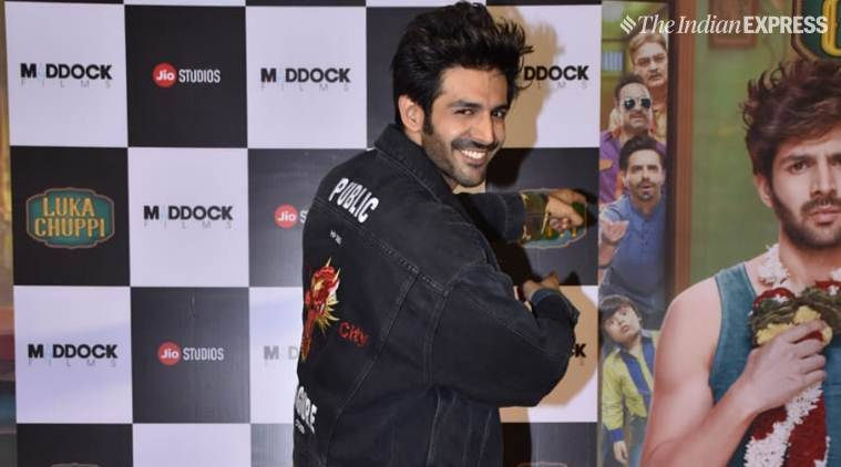 kartik aaryan at luka chuppi trailer launch