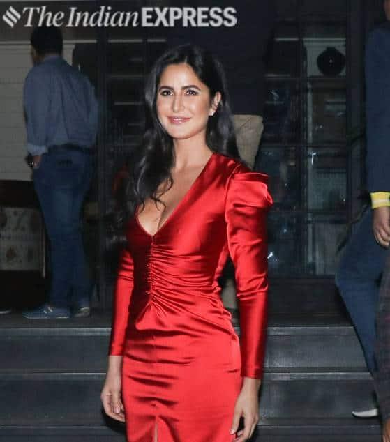 Katrina Kaif, bharat movie, bharat wrap up party, Katrina Kaif fashion, Katrina Kaif red dress, Katrina Kaif pictures, indian express, indian express news