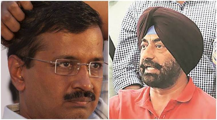 arvind kejriwal, sukhpal singh khaira, khaira attacks kejriwal, bhagwant mann, aap rally, barnala rally, kejriwal on drug menace, punjab drug menace, indian express