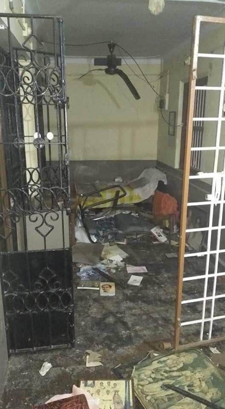 Sabarimala, Sabarimala bomb hurled, Bomb at kerala leaders, CPI(M) Sabarimala row, women entry in sabarimala, Kerala news, India news, Indian express news