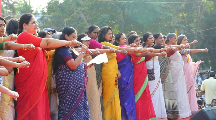 Sabarimala row: Lakhs line up to form women's wall across Kerala