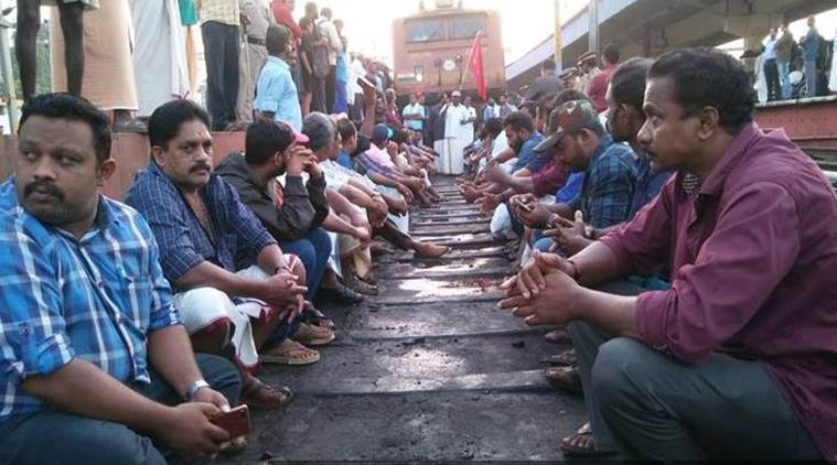 Nationwide strike wrecks train movement in Kerala, commuters left stranded