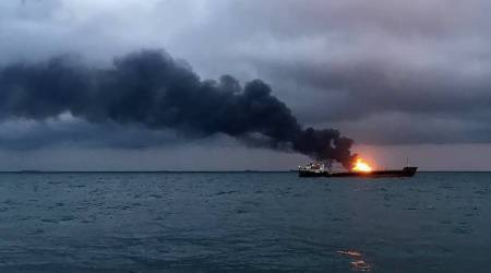 Six Indian sailors dead, six missing after 2 ships catch fire in Kerch Strait