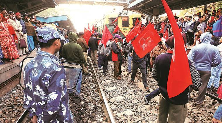 Day 1 of strike by left-backed trade unions in West Bengal: Amid small clashes, normalcy prevails