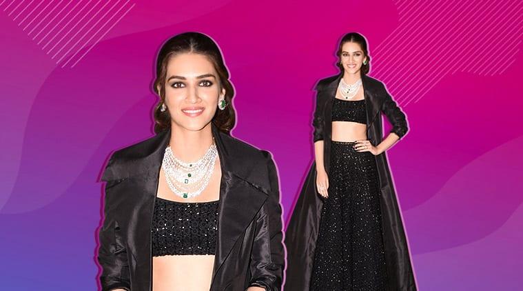 Kriti Sanon fashion, Kriti Sanon black lehenga
