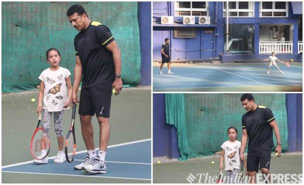 mahesh bhupathi wth daughter