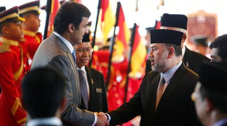 Why did Malaysia's king, Sultan Muhammad V, abdicate so suddenly?