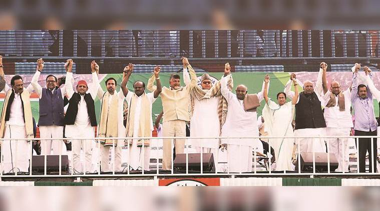 At Mamata rally, 25 Opposition leaders vow to oust Modi govt