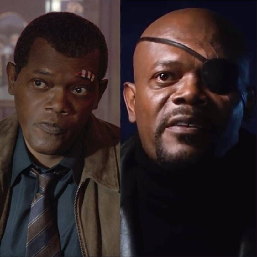 nick fury ten year challenge