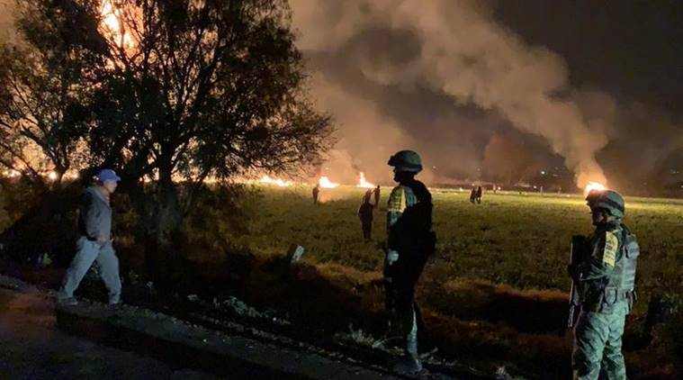 Mexico, Mexico blast,Mexico pipeline blast, fuel pipeline blast mexico, mexico blast, blast in mexico city, pipeline blast mexico, world news, indian express, latest world news