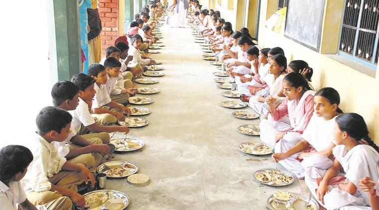 mid-day meals, mid-day meal in schools, students mid-day meal, government schools, literacy mid-day meal, mhrd, indian express