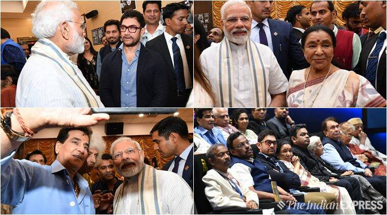 bollywood celebs meet with pm modi at inauguration of National Museum of Indian Cinema