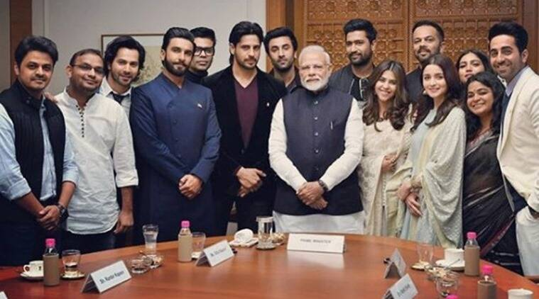 pm modi with bollywood actors