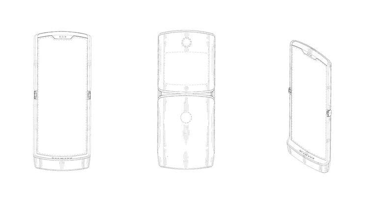 Motorola Razr 2019 patent shows foldable phone with retro design