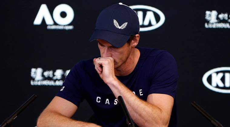 Andy Murray of England speaks to the media during a press conference at the Australian Open in Melbourne, Australia
