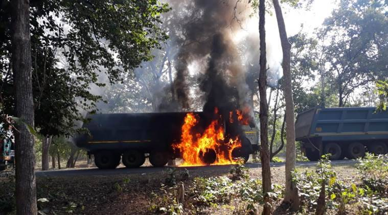 Maharashtra: Mob torches trucks following mishap in Gadchiroli; police suspect Naxal involvement