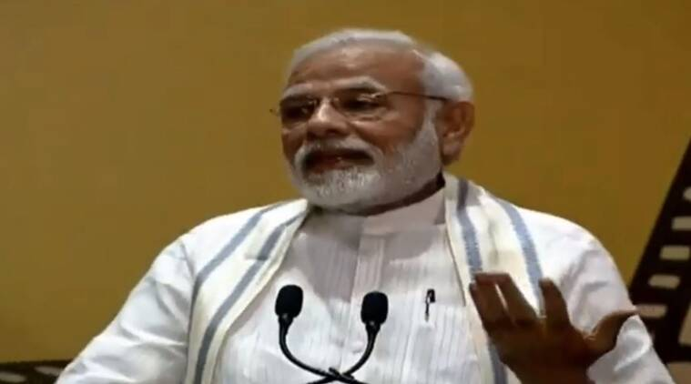 pm narendra modi at inauguration of the National Museum of Indian Cinema