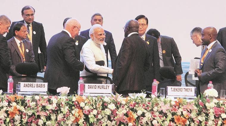 pm modi, narendra modi, prime minister, gdp growth, highest gdp growth since 1991, inflation, liberalisation, gujarat, gujarat summit, global summit, indian express