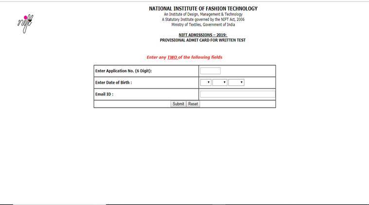 Nift Admit Card Released At Nift Ac In Here S How To Download Education News The Indian Express