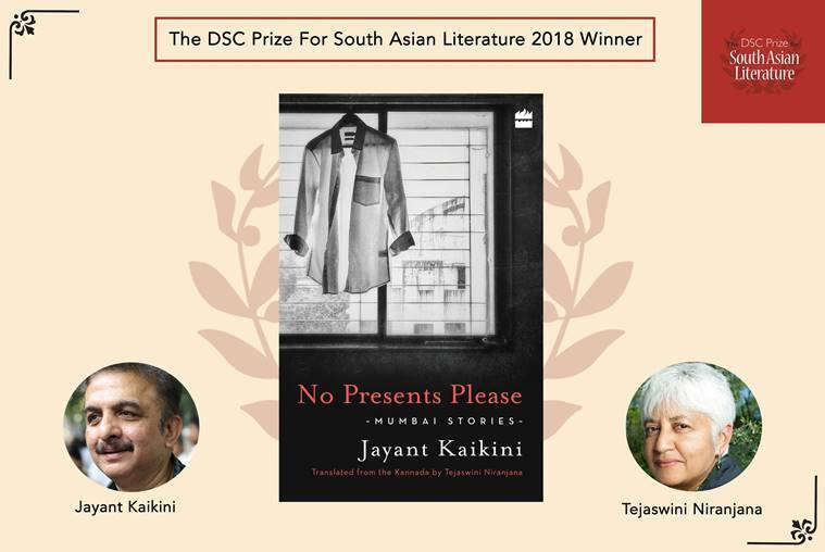 Dark horse Kannada writer Jayant Kaikini awarded DSC Prize for 'No Presents Please'