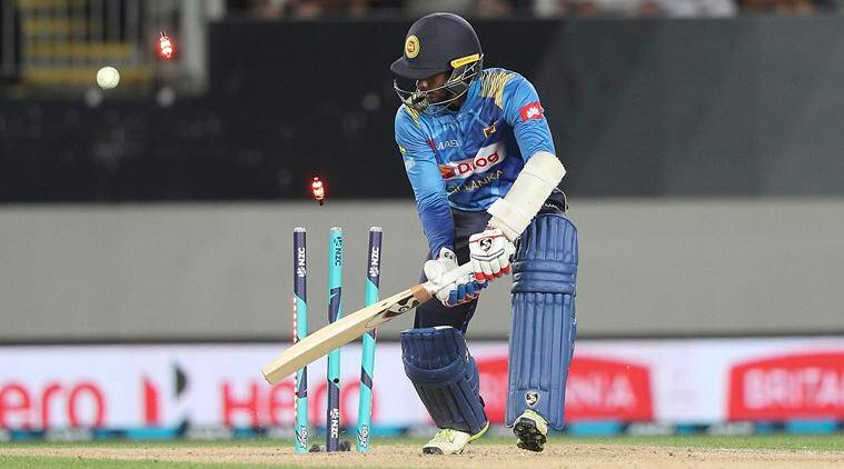 Dhananjaya de Silva is bowled out