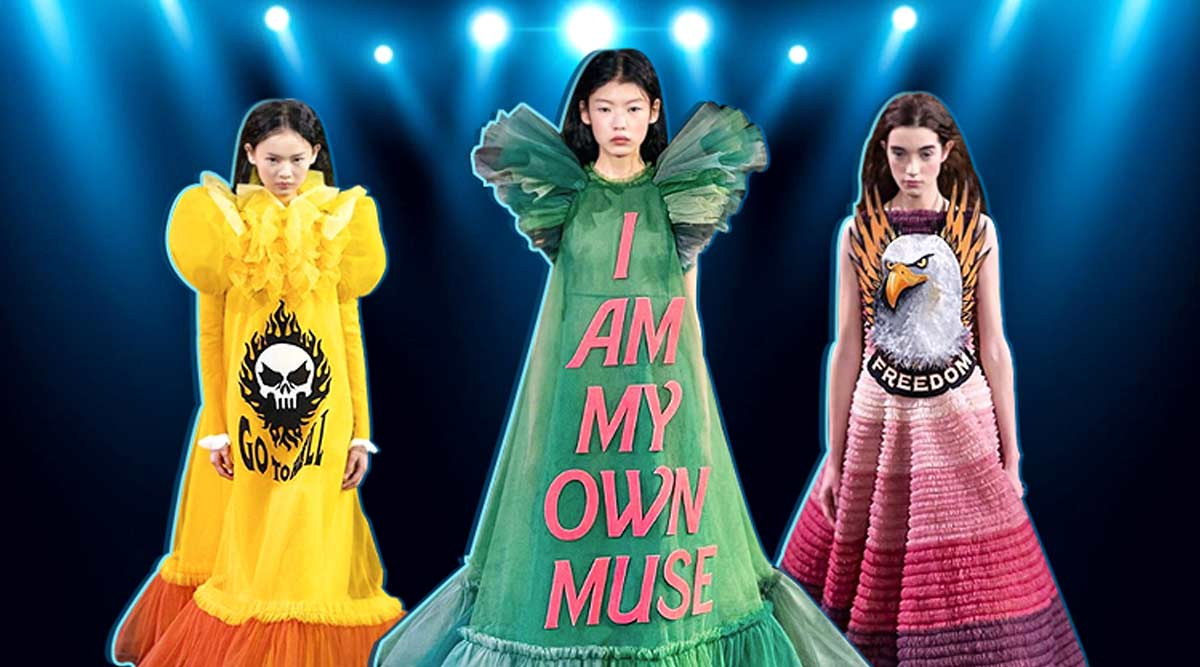 Slogan Gowns Are Now A Thing Thanks To Dutch Designers Viktor And Rolf Lifestyle News The Indian Express